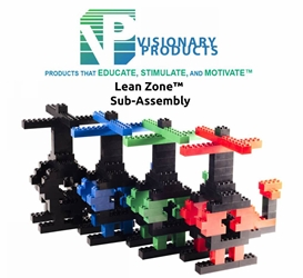 Lean Zone® Sub-Assembly Lean Manufacturing, Lean Game, Lean Lego, Lean Simulation, Lean Helicopter